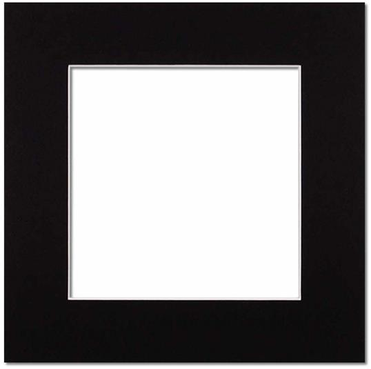 Passepartout Svart med vit kant 50x50
