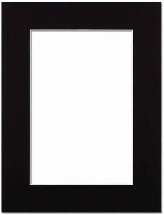 Passepartout Svart med vit kant 40x50