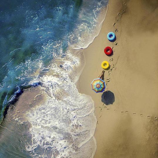 Poster Beach Colour 70x70