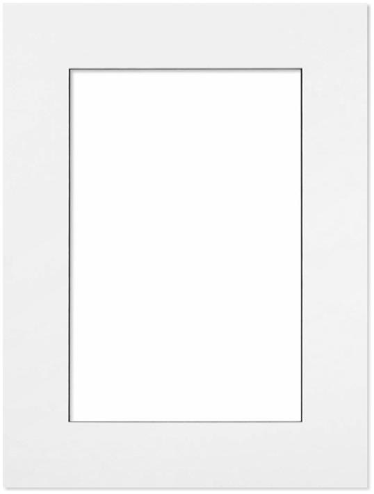 Passepartout Vit med svart kant 28x35