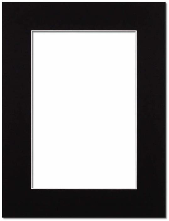Passepartout Svart med vit kant 21x29.7(A4)