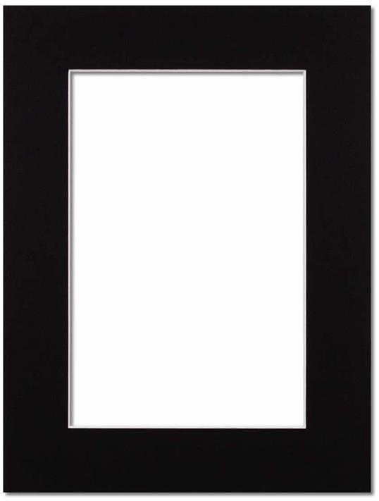 Passepartout Svart med vit kant 18x24