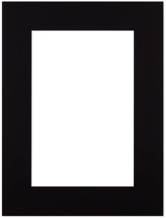 Passepartout Svart 50x70