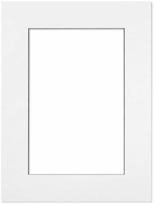 Passepartout Vit med svart kant 24x30
