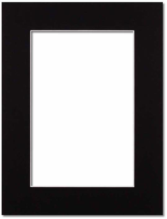 Passepartout Svart med vit kant 10x15