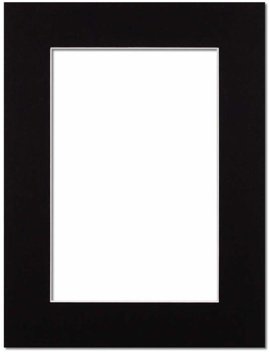 Passepartout Svart med vit kant 30x40
