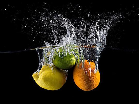 Poster Citrus Splash 40x50