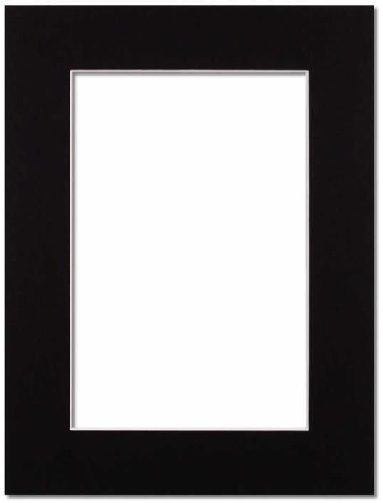 Passepartout Svart med vit kant 15x21