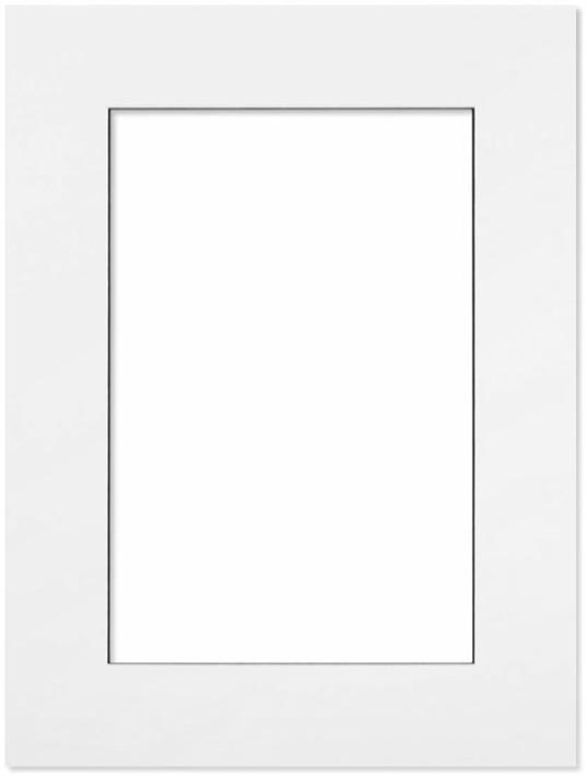 Passepartout Vit med svart kant 18x24