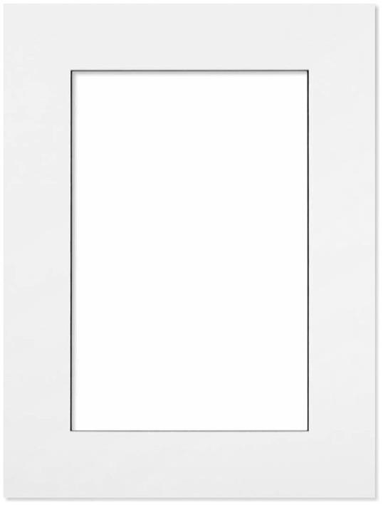 Passepartout Vit med svart kant 15x21
