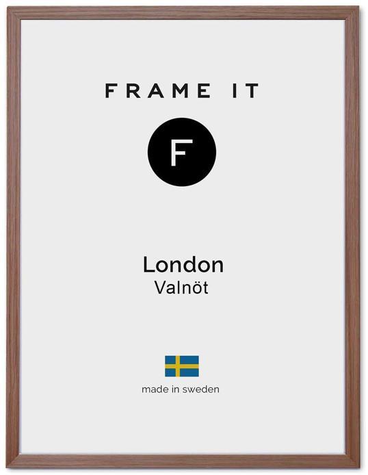 Ram London Valnöt 50x70