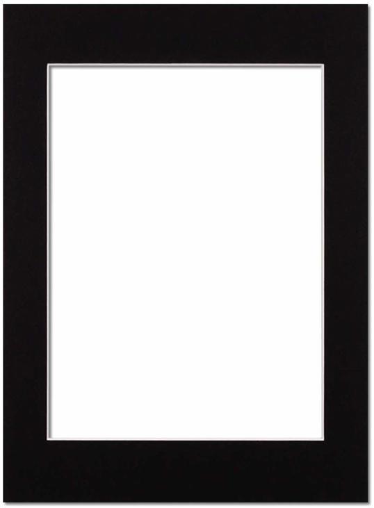 Passepartout Svart med vit kant 70x100