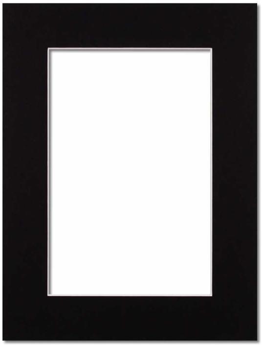 Passepartout Svart med vit kant 13x18