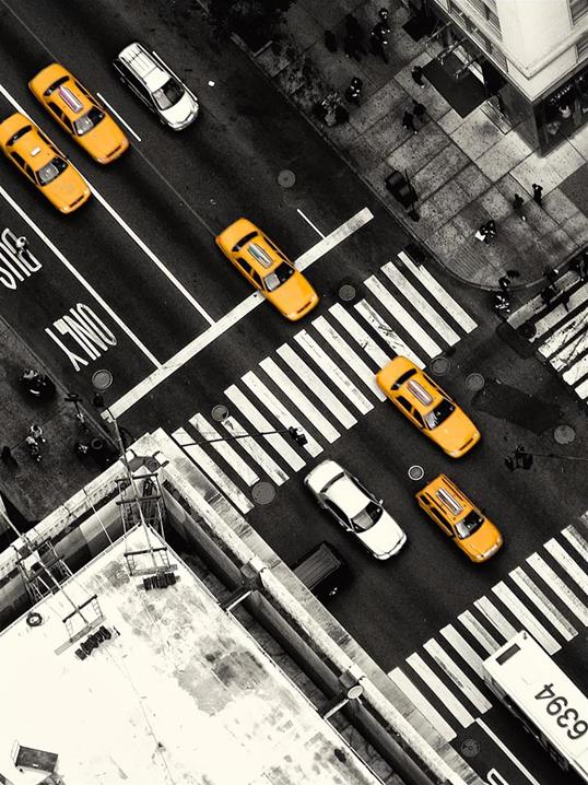 Poster Yellow Cab 30x40