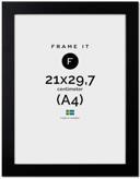 Ram Paris Svart 21x29.7(A4)