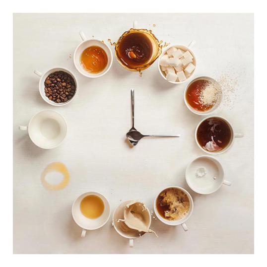 Poster Coffee O'clock 50x50
