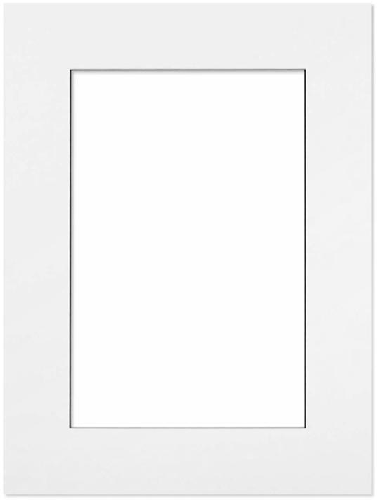 Passepartout Vit med svart kant 30x40