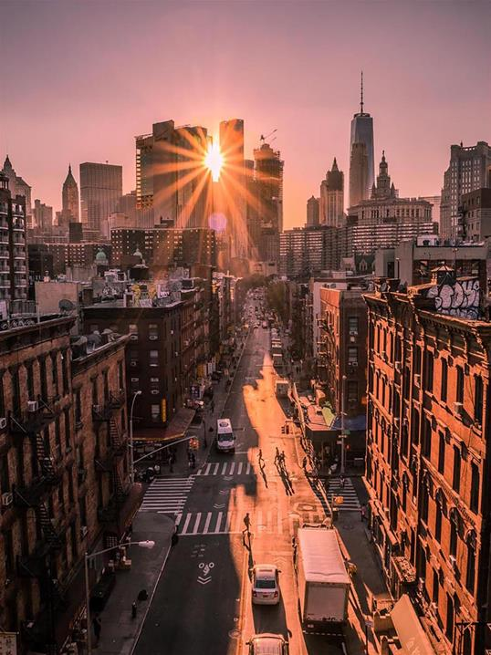 Poster NYC Sunset 30x40