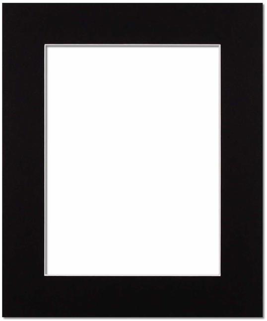 Passepartout Svart med vit kant 50x60