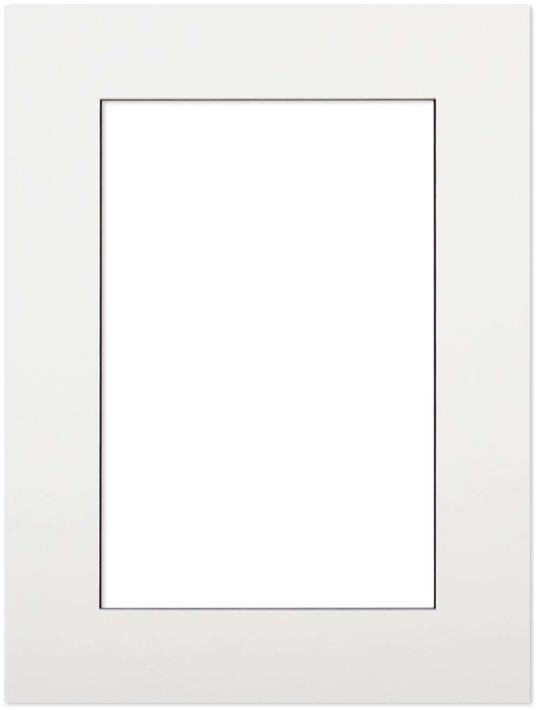 Passepartout Vit med svart kant 50x70