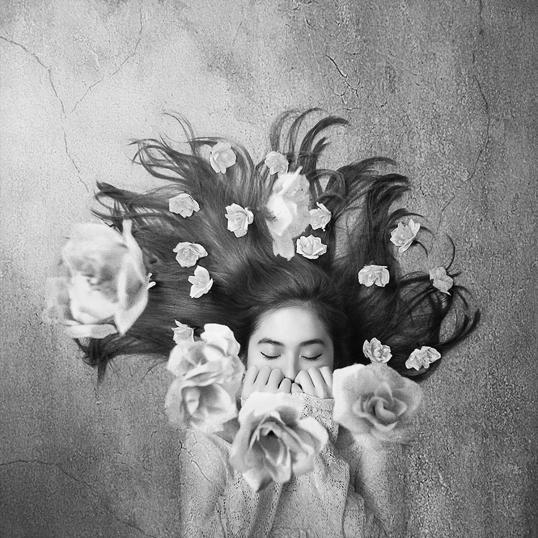 Poster Flower Hair 70x70