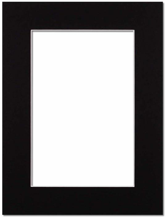 Passepartout Svart med vit kant 28x35