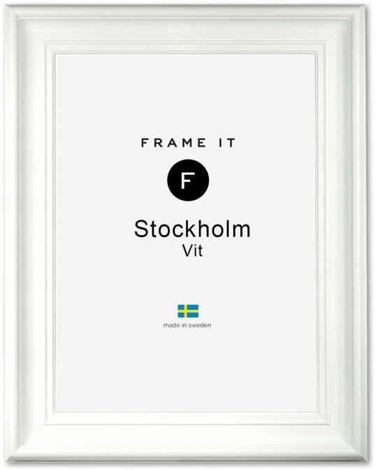 Ram Stockholm Vit 20x25
