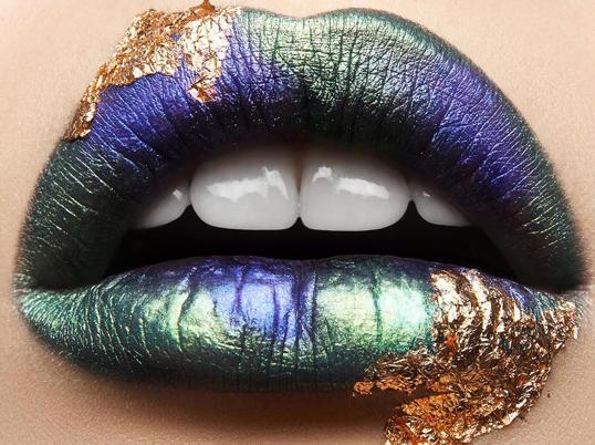 Poster Golden Lips