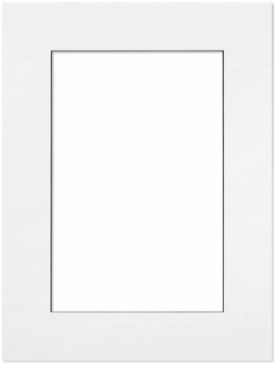 Passepartout Vit med svart kant 40x50