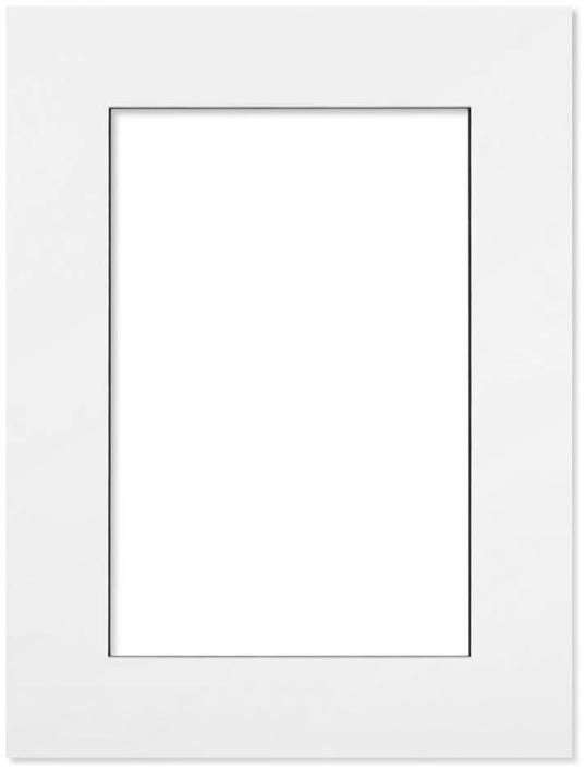 Passepartout Vit med svart kant 10x15